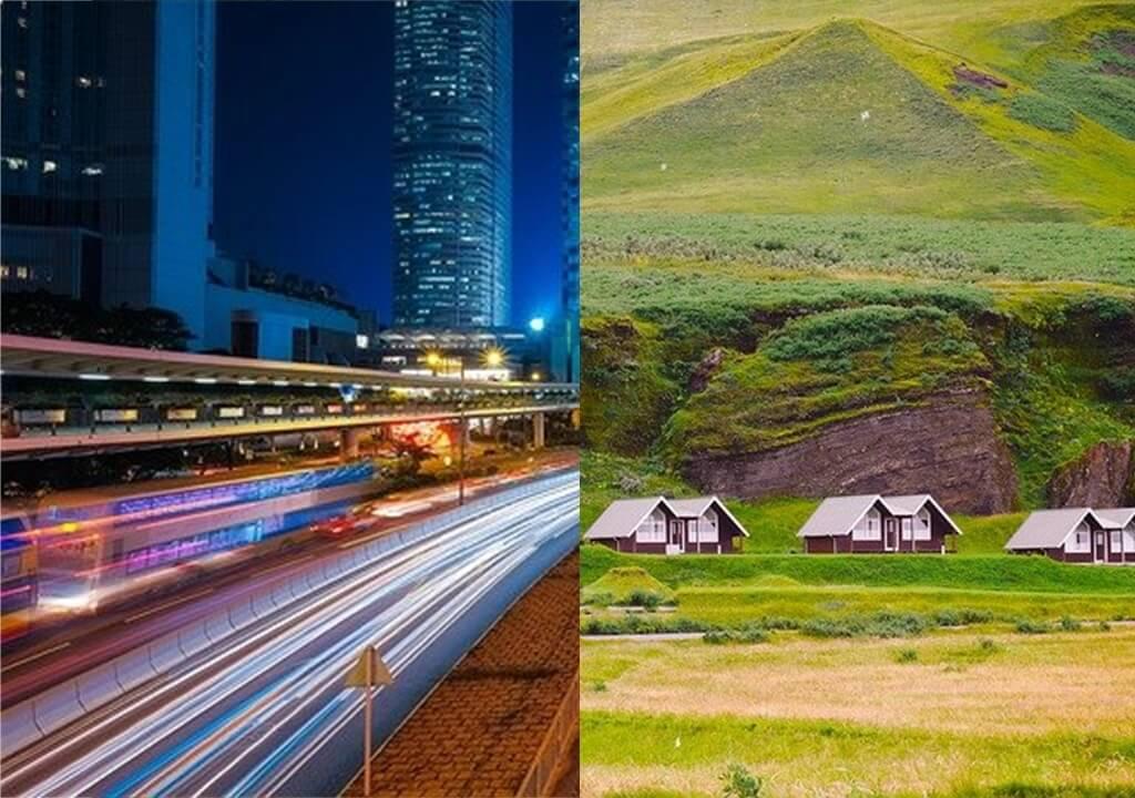 Bandingkan bagaimana kehidupan ekonomi masyarakat kota dan masyarakat desa